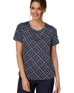 GINA - Grid Print Shell Top